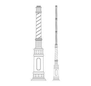 klassik-leuchten.de: 04. Surya Mast P1230 für mediterrane Außenleuchten