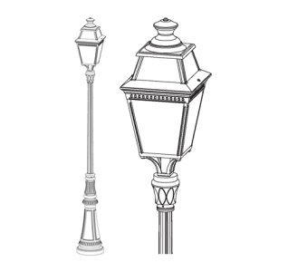 klassik-leuchten.de: 08. Place des Vosges 3 Nr. 08 klassische Außenleuchte von Roger Pradier