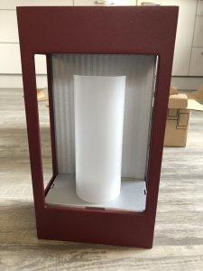 klassik-leuchten.de: Außenleuchte Brick 1 RAL 3005, Sonderangebot